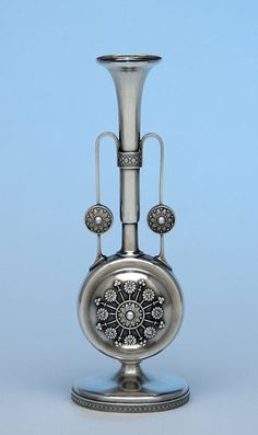 sterling silver vase antique | Tiffany & Co Antique Sterling Silver Aesthetic Movement Bud Vase, New ...