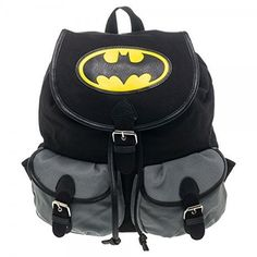 BIOWORLD DC Comics Batman Logo Color Block Knapsack Backpack * You can get more details by clicking on the image.