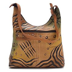 Anuschka Medium Cross Zip Hobo ANNA by Anuschka Animal Butterfly    Somebody stop me before I treat myself to one of these bags!