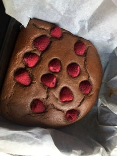 Slimming World Weetabix chocolate brownies. I love these with raspberries on top - delicious!