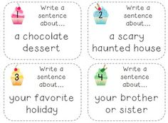 Writing and grammar activities for K-2 learners!
