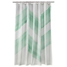 Nate Berkus Color Block Shower Curtain, Mint I Target