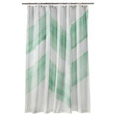 Nate Berkus Color Block Shower Curtain, Mint I Target