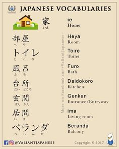 Japanese home vocabulary