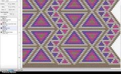 Wayuu Mochila pattern Tapestry Crochet Patterns, Crotchet Patterns, Loom Patterns, Beading Patterns, Embroidery Patterns, Crochet Chart, Crochet Motif, Cross Stitch Embroidery, Cross Stitch Patterns
