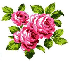 Букет роз K302 Cross Stitch Rose, Knitted Bags, Hand Embroidery, Cross Stitch Patterns, Crafty, Rose Flowers, Stitches, Gallery, Cross Stitch Fairy