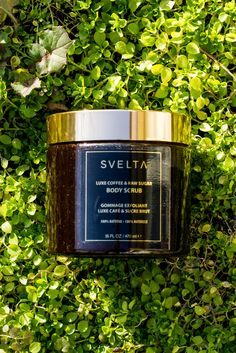 Achieve perfectly smooth and hydrated skin with Svelta's Luxe Coffee & Raw Sugar Body Scrub made with 100% natural ingredients. #svelta #sveltatan #bodyscrub #natural #100natural #vegan #scrub #skincare #exfoliate #exfoliation #exfoliator #skincare #tanning #selftanner #tan #beach #sand