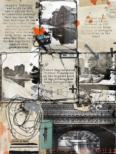 Titford Canal | The Lilypad Scrapbooking Layouts, Digital Scrapbooking, Team Page, Digital Art, Gallery, Creative, Image, Design, Roof Rack