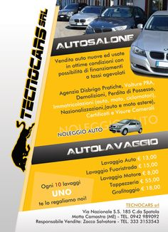 Tecnocars - Autosalone Officina Meccanica - Volantino fronte