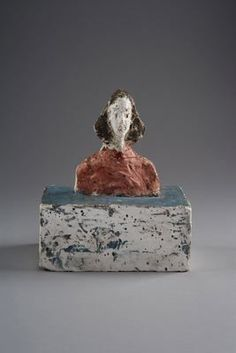 Alberto Giacometti, [Small bust of Annette], circa 1946 Painted plaster coated with a parting compound, x x in. Fondation Alberto et Annette Giacometti Alberto Giacometti, Giovanni Giacometti, Sculpture Painting, Sculpture Clay, Painting & Drawing, Sculpture Ideas, Small Sculptures, Hirst, Ceramic Clay