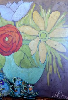 large paintings on reclaimed wooden backgrounds Art Floral, Paintings I Love, Flower Paintings, Acrylic Painting Inspiration, Custom Art, Creative Art, Flower Art, Decoration, Folk Art