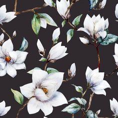 "Vintage Magnolia 5' x 20"" Floral Wallpaper Roll & Reviews | Joss & Main"