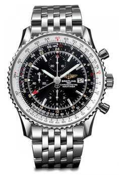 Duel Time-Zone Watches - Breitling Navitimer World Watch. LOVE IT!