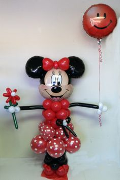 Minnie Mouse Red Balloon Character ~ Tulsa, OK Love Balloon, Red Balloon, Balloon Party, Minnie Mouse Theme Party, Mickey Party, Balloon Crafts, Balloon Decorations, Balloon Ideas, Mickey Balloons