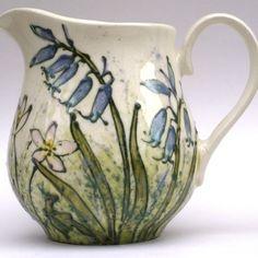 Bluebell Spring Flower Milk Jug, by Jenny Bell Ceramics