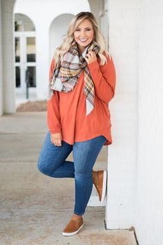 Cute Fall Outfits, Curvy Outfits, Preppy Outfits, Simple Outfits, Girl Outfits, Plus Size Fall Outfit, Plus Size Outfits, Look Plus Size, Mode Plus