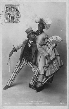 "The Cakewalk dance was developed from a ""Prize Walk"" done in the days of slavery, generally at get-togethers on plantations in the Southern United States. Alternative names for the original form of the dance were ""chalkline-walk"", and the ""walk-around"". At the conclusion of a performance of the original form of the dance in an exhibit at the 1876 Centennial Exposition in Philadelphia, an enormous cake was awarded to the winning couple. Thereafter it was performed in minstrel shows…"