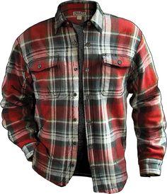 Duluth Trading Flapjack Shirt Jac Flame Red Plaid