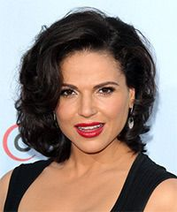 Lana Parrilla Hairstyle - Formal Medium Wavy