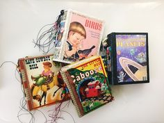 Little Golden Book Journals - Altered Books/Baby Books - YouTube