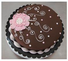 Simple flower cake
