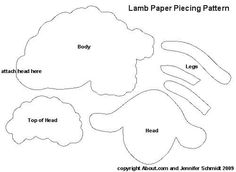 Easter lamb paper piecing pattern