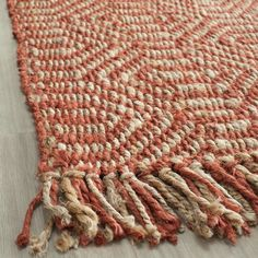 Safavieh Hand Woven Rag Rug Rust Cotton Rug 5 X 8