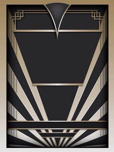 ideas for art deco design pattern poster Motif Art Deco, Art Deco Decor, Art Deco Stil, Art Deco Design, Decoration, Motif Design, Design Elements, Art Nouveau, Invitaciones Art Deco