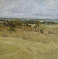 """Sheridan Landscape by Simon Addyman Oil ~ 12"""" x 12"""""""