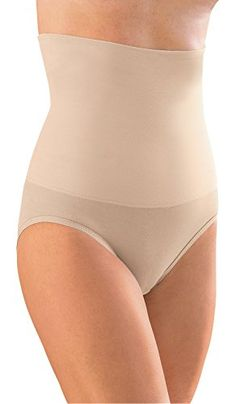 ed32e5407c Glamorise Hi-Waist-Slimmer Smoothing Full-Back Panty (sizes Large to 9XL)  (3XL for 36-waist