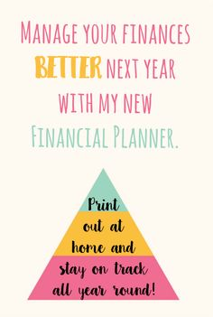 Manage your finances better next year with my brilliant new financial planner which will help you stay on track all year round.
