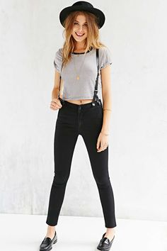 JUST the jeans! CourtShop James  High-Rise Suspender Jean