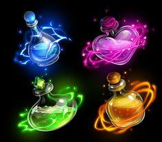 Anime Weapons, Fantasy Weapons, Writing Fantasy, Fantasy Art, Disney Art Style, Magic Bottles, Magic Symbols, Potion Bottle, Game Item