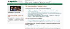 Comunicación, Entrevista, http://comunidad.laopiniondemalaga.es/entrevista-chat/4773/Festival-Cine-Malaga-2013/Chat-con-el-equipo-de-%C2%B440%C3%B1eras,-la-serie%C2%B4/entrevista.html