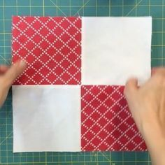 2 disappearing 4-patch quilt blocks. Full video on my blog. Link in profile #videotutorial #sewing #sewingvideo #disappearing4patch #easyquilt #easyquilting #craft a
