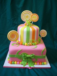 sugar lollies birthday cake