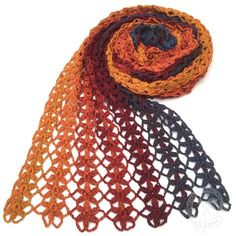 lovely crochet scarf using oana's lion's foot pattern in strips Diy Poncho, Poncho Au Crochet, Crochet Shawls And Wraps, Knitted Shawls, Crochet Scarves, Lace Knitting, Crochet Clothes, Crochet Stitches, Crochet Hats