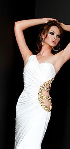 Elegant White Sheath Natural Satin Prom Dresses In Stock klkdresses16542chf #longdress #promdress
