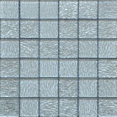 Grey Glass Sparkle Mosaic Bathroom Tiles Grey Bathroom Tiles, Silver Bathroom, Mosaic Bathroom, Grey Bathrooms, Grey Glass, Going Home, Mosaic Glass, Master Bath, Kitchen Ideas