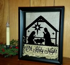 O Holy Night, nativity, shadow box. https://www.etsy.com/listing/241310181/o-holy-night-christmas-shadow-box-manger?ref=shop_home_active_8