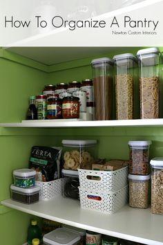 How To Organize A Pantry - Newton Custom Interiors