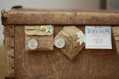 """""""Einladung zum Kreativworkshop"""" aus mini treat bags von Stampin up"""