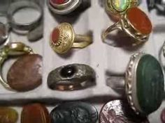 Roman ancient art of magic Intaglios jewelry & gold rings