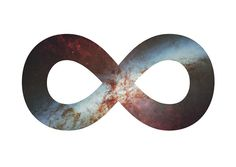 """I'd this as a tattoo with the concept of this, but designed a lot better with more color and depth. """"The universe is shaped exactly like the earth, if you go straight along enough you'll end up where you were."""" #modestmouse #infinite #universe"""