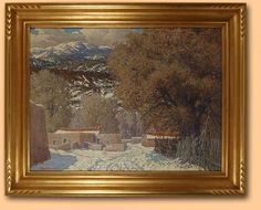 carl von hassler | ... Carl Von Hassler | Original Painting of Winter in Las Trampas, NM