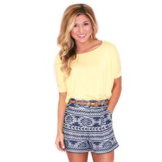 PIKO SHORT SLEEVE TEE YELLOW  IMPRESSIONS  $28.00