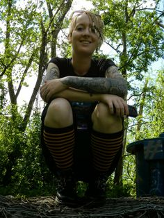 Outfit: Anarchic Boots + Striped Socks ~ INFEKTED #outfit #outfitoftheday #outfitpost #ootd #style #styleblogger #styleblog #gothstyle #altstyle #rockerchic #gothchic #gothboots #punkboots #punkrock #stripedsocks #boots #tattoos #medusatattoo #tattoosleeve #tattoo #tattooed #ink #inked #inkedgirls #chickswithink