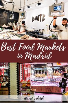 Looking for the best food markets in Madrid? After eating my way through the city I've found the top 5 Madrid food markets. - Abroad with Ash Madrid Guide, Travel Quotes, Travel Advice, Travel Tips, Travel Packing, Madrid Food, Madrid Travel, Journey Quotes, Koh Tao