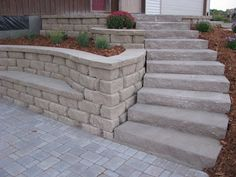Love the built in seat in the retaining wall!