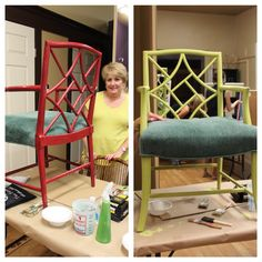 Before & after  Amy Howard at home paint class
